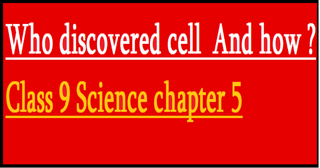 Who discovered cell ? And how