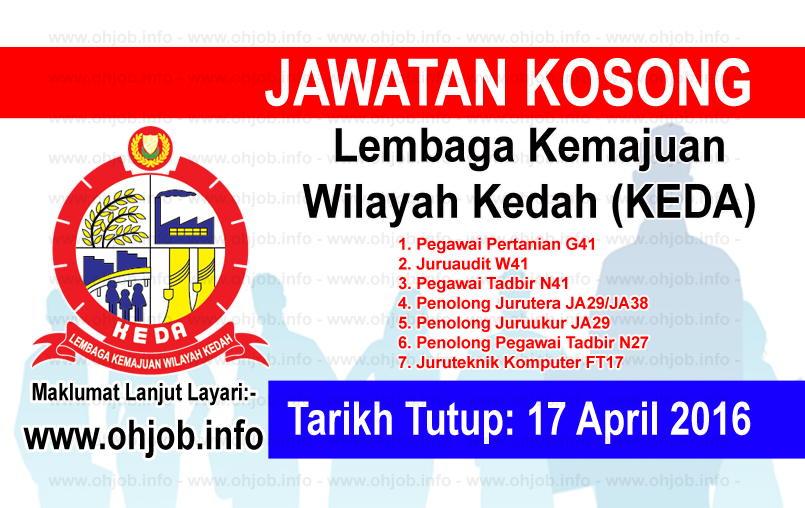 Jawatan Kerja Kosong Lembaga Kemajuan Wilayah Kedah (KEDA) logo www.ohjob.info april 2016