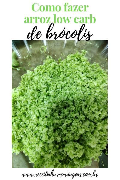 """Arroz low carb de brocolis: Arroz e low carb na mesma frase não combinam, mas o grande sucesso das dietas low carb  transformou """"arroz low carb"""" em algo possível."""
