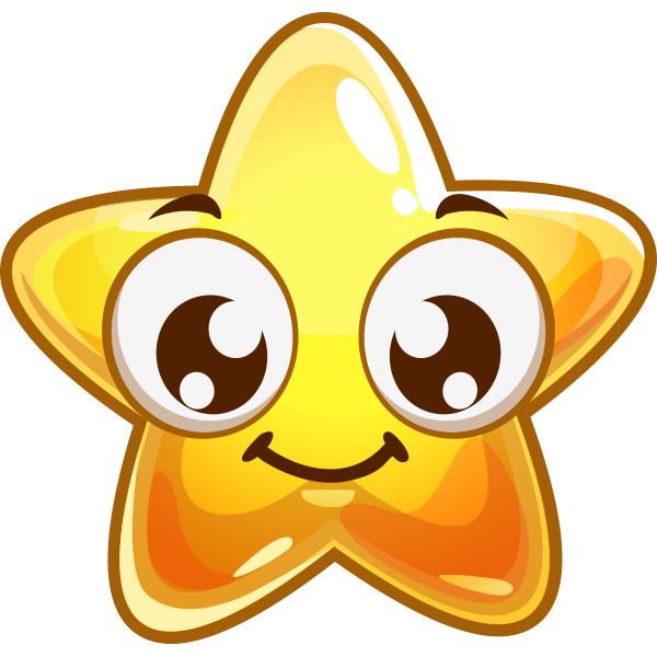 Smile Star Sticker