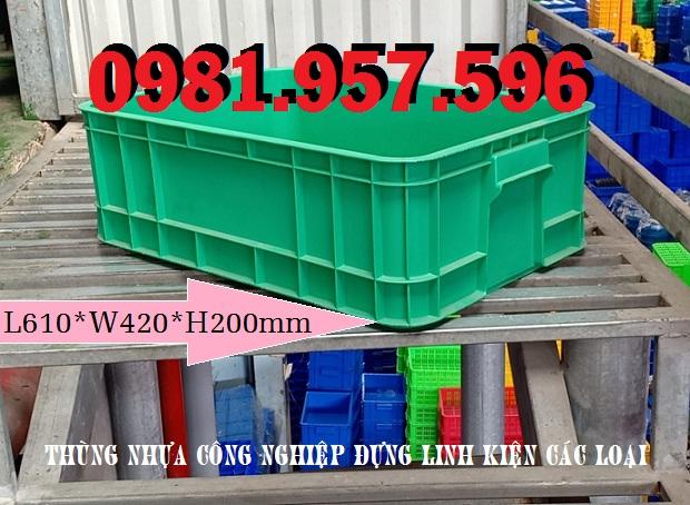 Hộp nhựa cao 20cm, thùng nhựa B1, thùng nhựa cao 20cm