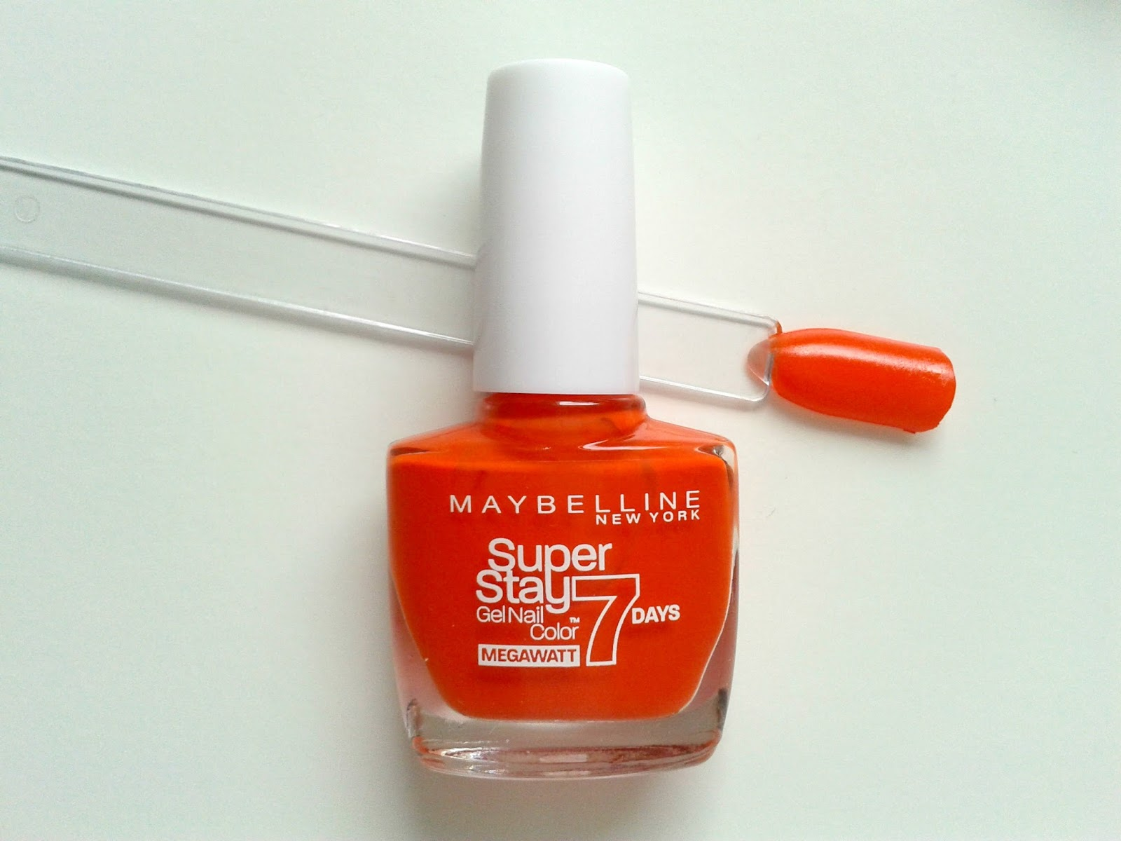Maybelline New York Super Stay 7 Days Gel Nail Colours Orange Punch Beauty Review Swatch