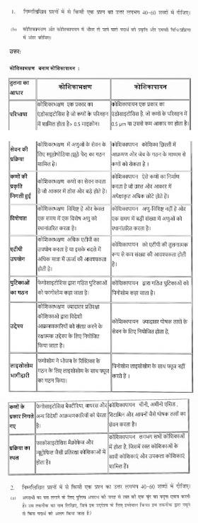 NIOS TMA biology (314) l Solved Assignments 20-21-Hindi- Medium