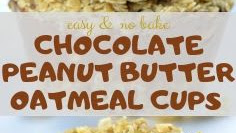 NO BAKE CHOCOLATE PEANUT BUTTER OATMEAL CUPS EASY
