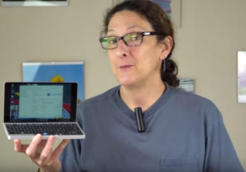 Lisa Gade Holding The GDP Pocket