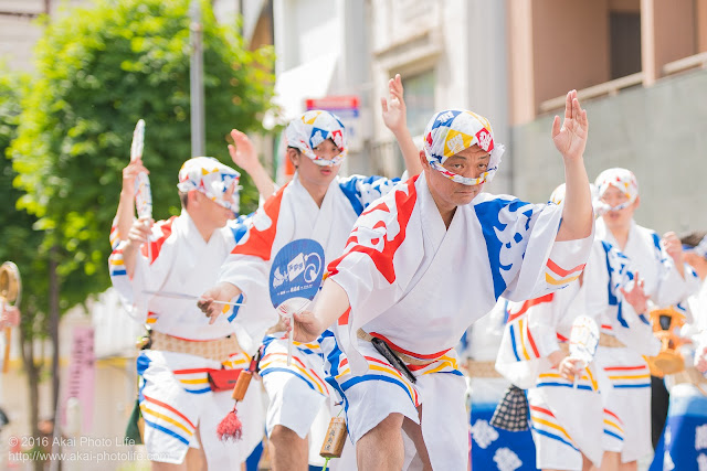 飛鳥連、マロニエ祭り、男踊りの写真 その1