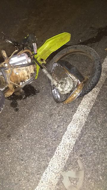 DOIS MOTOCICLISTAS MORRERAM APÓS COLIDIREM AS MOTOS EM CARRO NO MUNICÍPIO DE IPAPORANGA