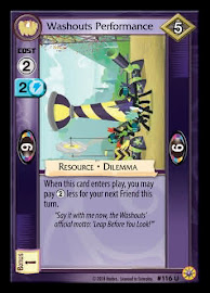 My Little Pony Washouts Performance Friends Forever CCG Card