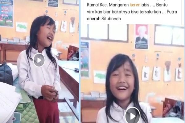 Merdu Sekali, Viral Siswi Kelas 5 SD Tanjung Kamal Nyanyi Lagu Oleh-Oleh