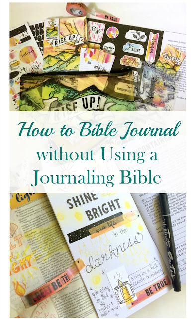How to Bible Journal without a Journaling Bible