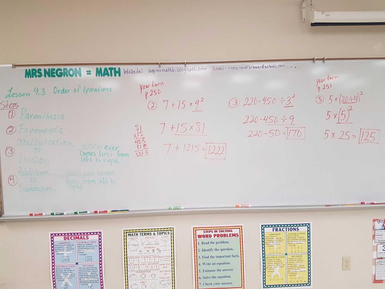 Evaluating Simple Algebraic Expressions