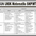 Kisi-Kisi UN UNBK Matematika SMP/MTs Tahun Pelajaran 2019/2020