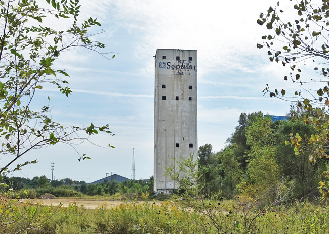 Abandoned Industrial Tower in Omaha Nebraska