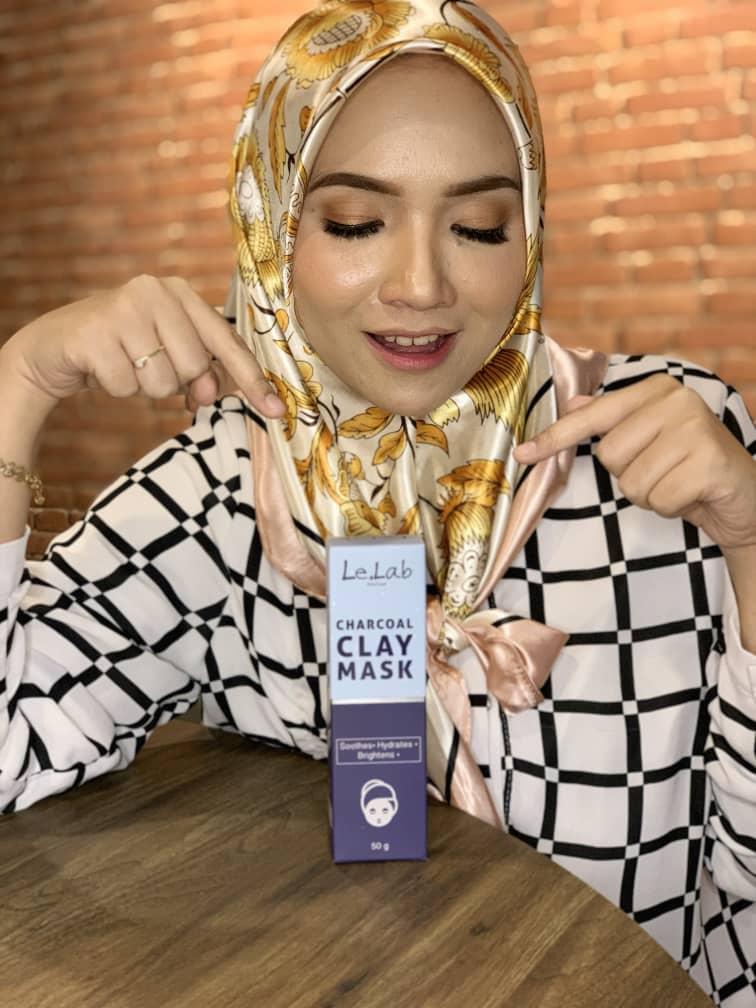Charcoal Clay Mask By Le.Lab Routine Hilangkan Jerawat Serta Parut Jerawat Seawal 7