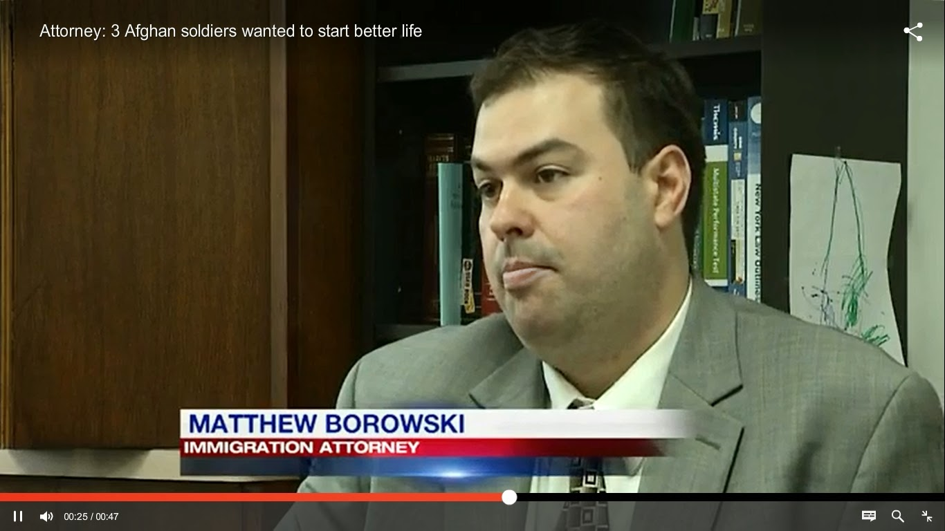 Matthew Borowski appears on CBS News 4 to discuss Afghan soldiers' Immigration Case