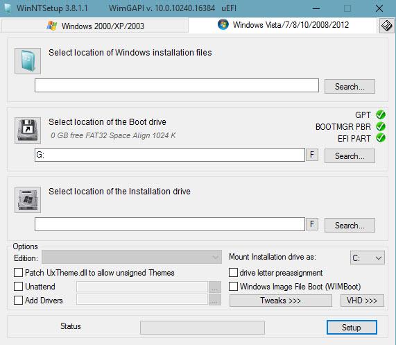 Video hướng dẫn Cài Win 10 trên hệ thống UEFI-GPT bằng WinNT Setup