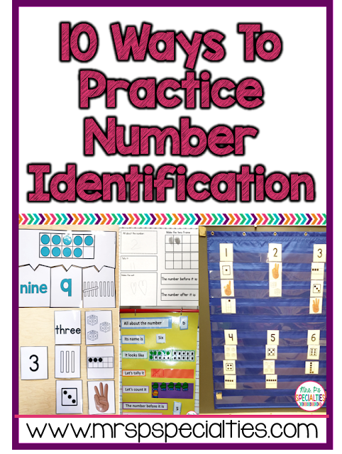 Students need a high level of practice in order to master number identification skills. Here are 10 different ways to practice numbers with your class.