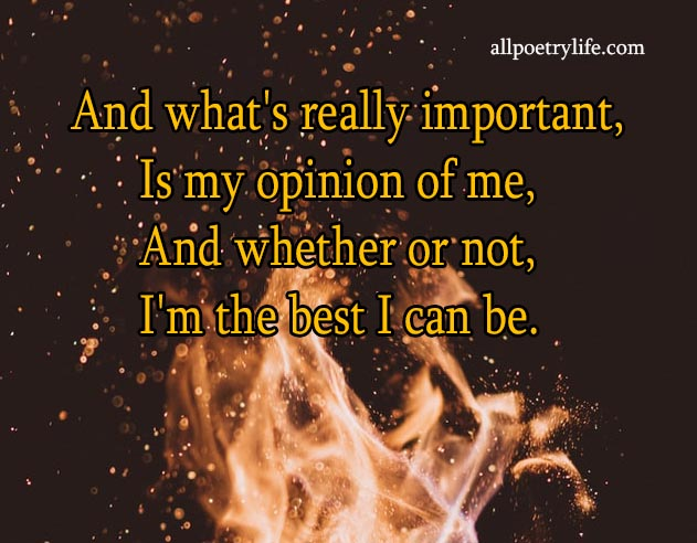And what's really important | English poetry on life poems quotes