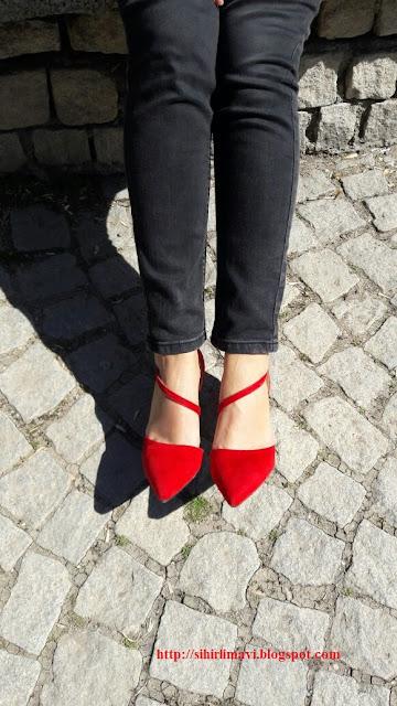 stiletto, süet, kırmızı ayakkabı, topuklu ayakkabı, blog, blogger, shopping, alışveriş, tbdress
