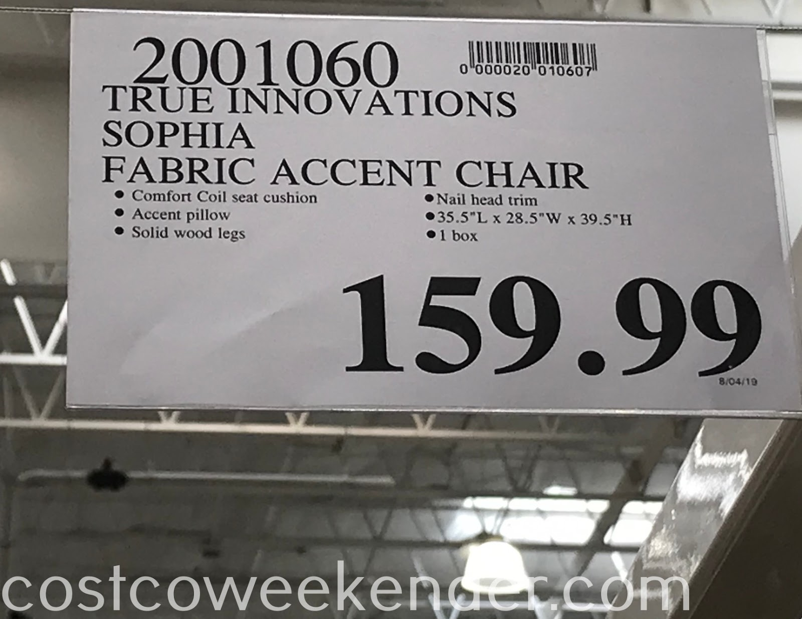 Deal for the True Innovations Sophia Fabric Accent Chair at Costco