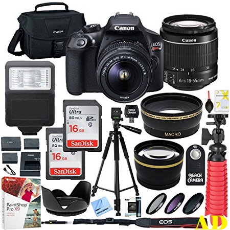 1. Canon T6 EOS Rebel DSLR Camera With EF-S 18-55mm F/3.5-5.6 IS II Lens