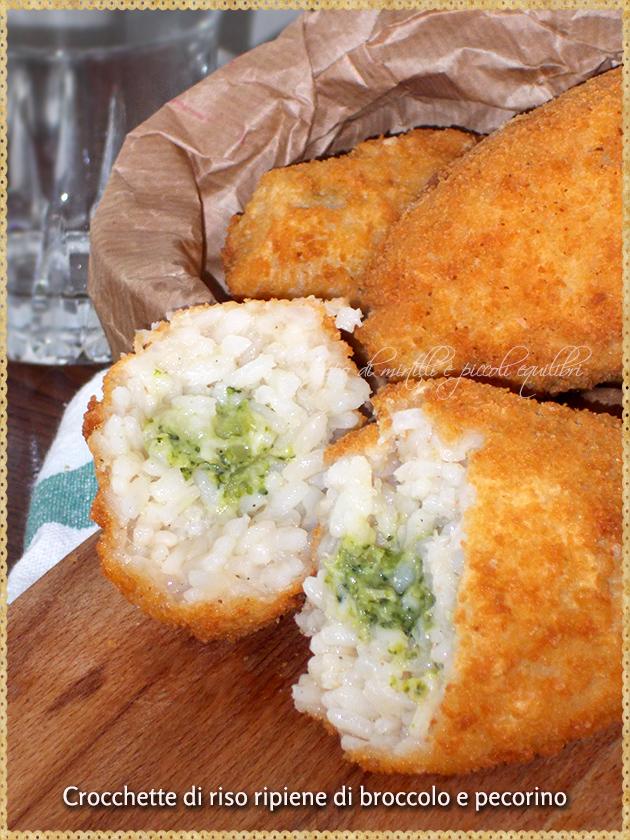 Crocchette di riso ripiene di broccolo e pecorino
