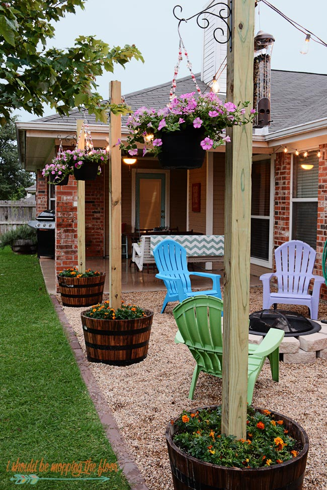Easy Pea Gravel Patio