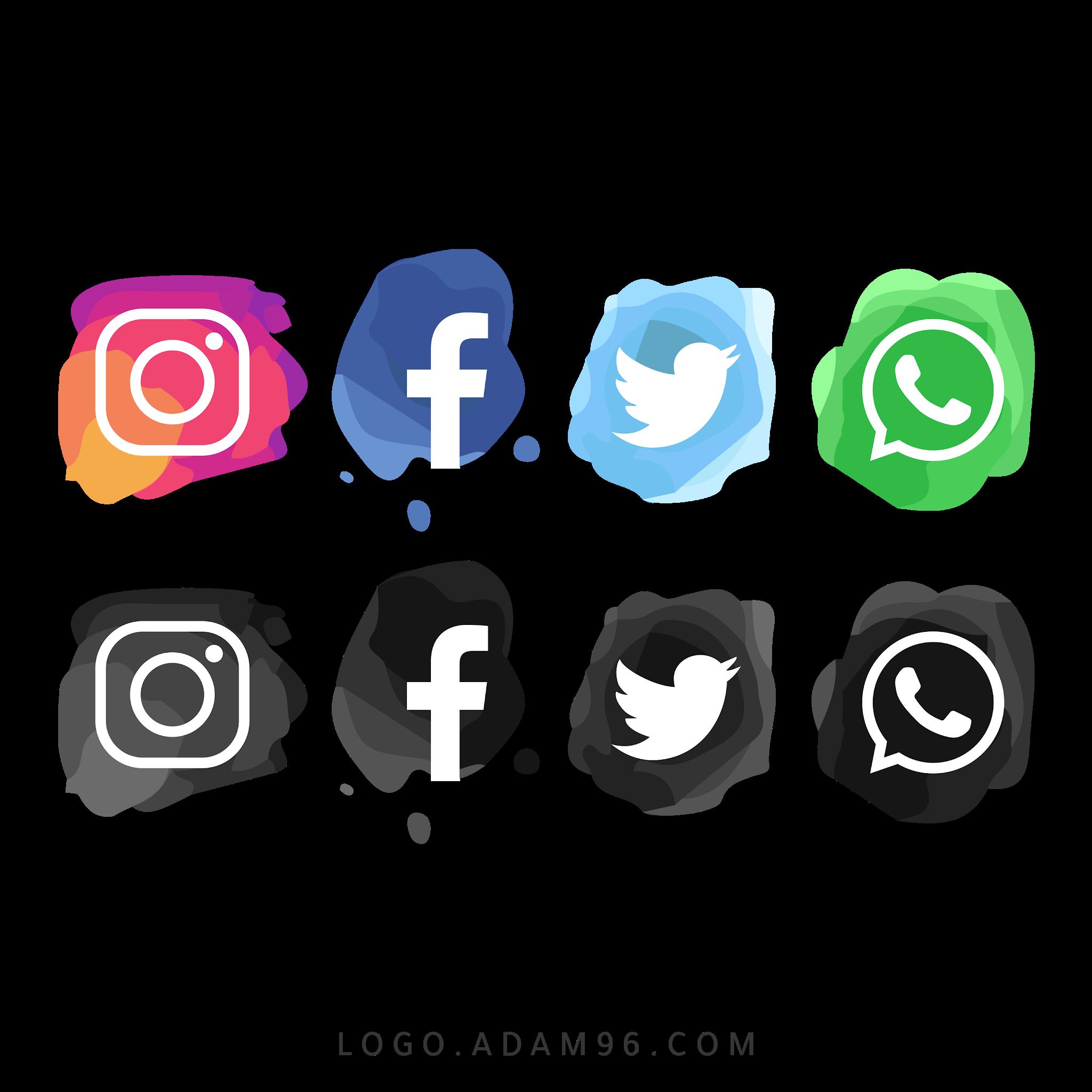 تحميل ايقونات مواقع التواصل الاجتماعي عالية الجودة بصيغة PNG
