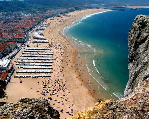 Nazaré: the beach, Silver Coast, Portugal
