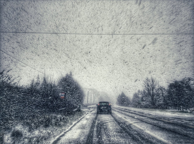 driving in the blizzard, ireland
