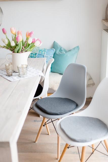 Sitzkissen für Eames, Seat cushion for Eames, Pomponetti
