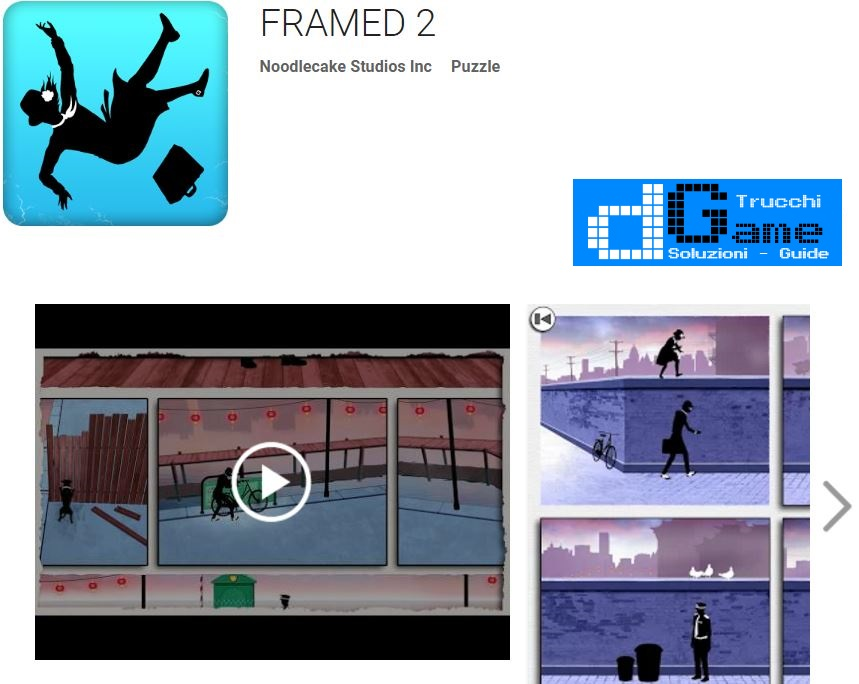 Soluzioni Framed 2 | Screenshot Livelli con Risposte