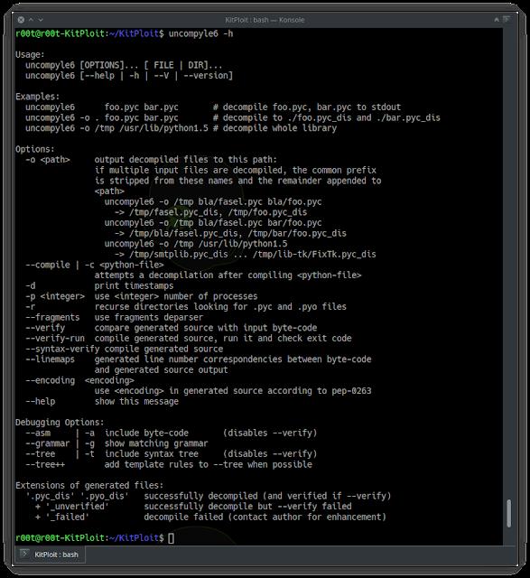 Uncompyle6 - A Cross-Version Python Bytecode Decompiler