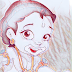 little Krishna drawing,radha krishna,cartoon,painting,images,wordart4u
