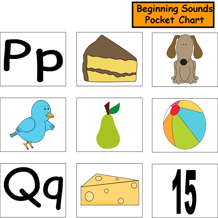 Beginning Sounds Pocket Chart in Spanish