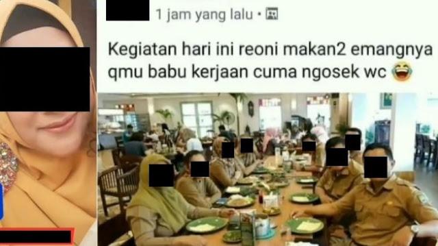 Viral ASN Tangerang Makan-makan dan Hina Babu, Ngaku Facebooknya Di-hack