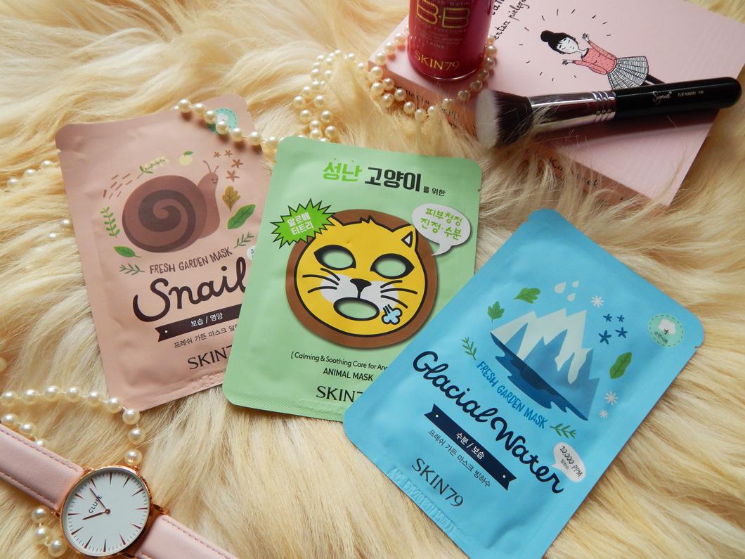 Ulubione maski w płacie Skin79 - Snail, Glacial Water i Angry Cat