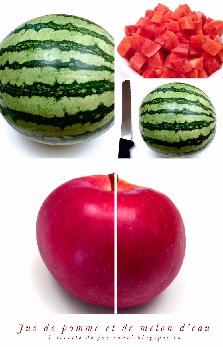 1 recette de jus sant jus de pomme et melon d eau past que. Black Bedroom Furniture Sets. Home Design Ideas