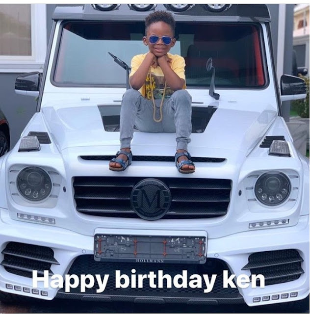 Obafemi Martins Celebrates Sons Birthday Releases Cute Photo