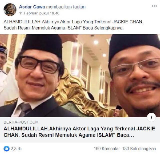 Benarkah Jackie Chan Telah Resmi Masuk Islam? Ini Faktanya, naviri.org, Naviri Magazine, naviri
