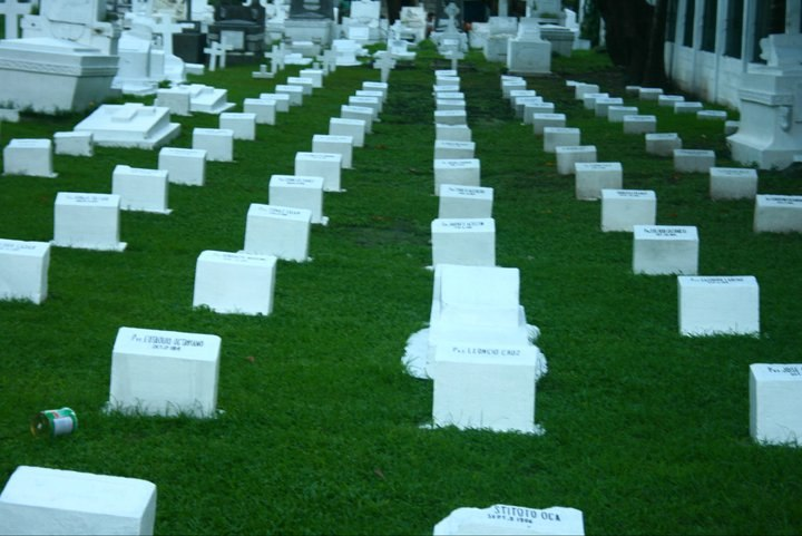Military personnel graveyard plot at Manila North Cemetery