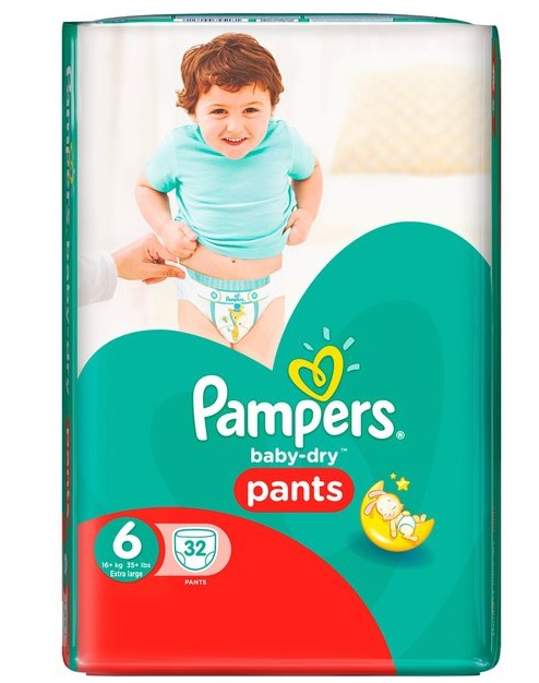 pack of pampers baby dry pants