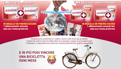 Logo Antistax ti premia con Biciclette Bottecchia e abbonamenti riviste in regalo