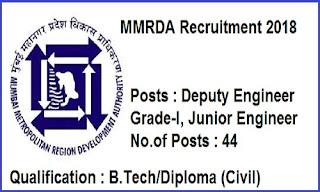MMRDA Recruitment 2018
