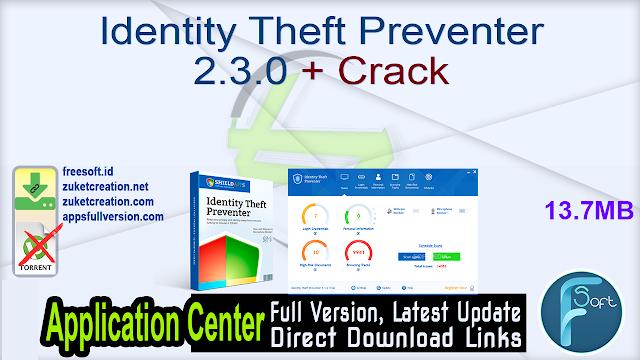 Identity Theft Preventer 2.3.0 + Crack