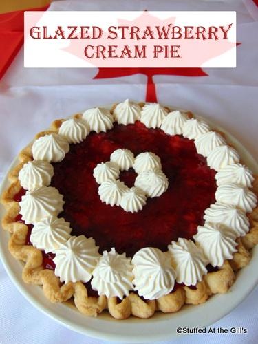 Glazed Strawberry Cream Pie by Canadian Flag.