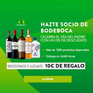 15% de descuento + 10€ de regalo en vinos en Bodecopa