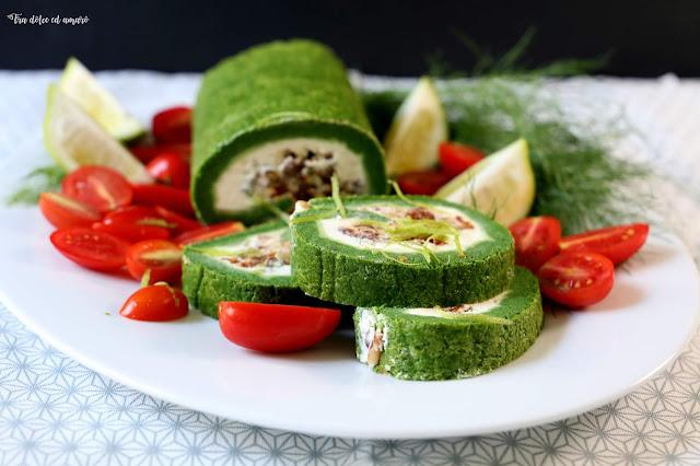 Rotolo di frittata farcito - oder auch: Wie kommt der Spinat ins Ei?