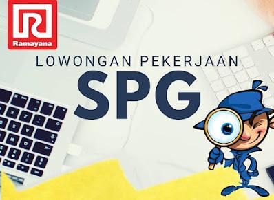 Lowongan Kerja di Ramayana Mall Kudus Jl. Simpang Tujuh, Alun-alun Kudus sedang membutuhkan SPG dengan Persyaratan: