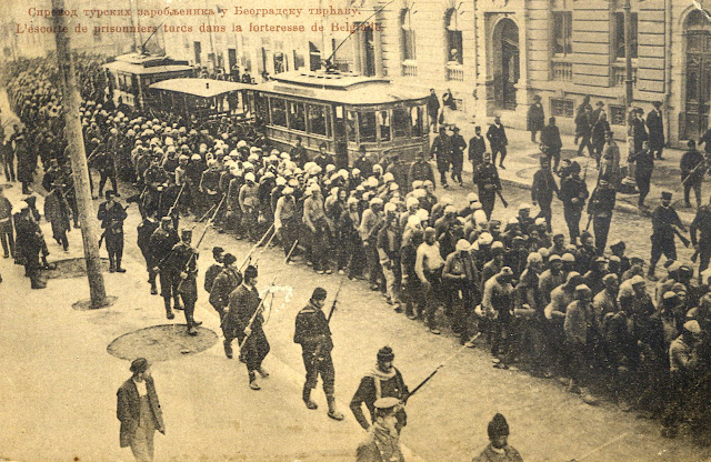 Turkish prisoners in Belgrade during the First Balkan War